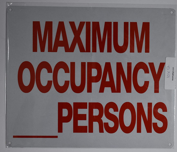 Occupancy Signage