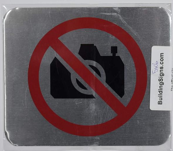 NO Pictures Symbol Signage
