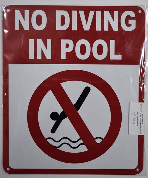 NO Diving in Pool Signage