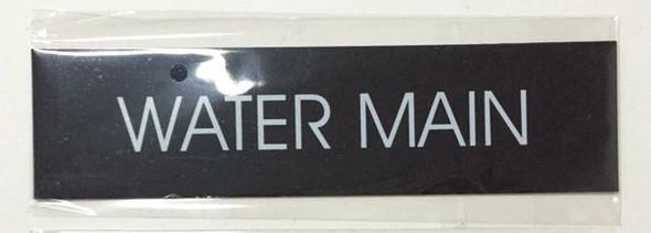 WATER MAIN SIGN - BLACK