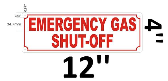 Emergency Gas ShutOff Sign