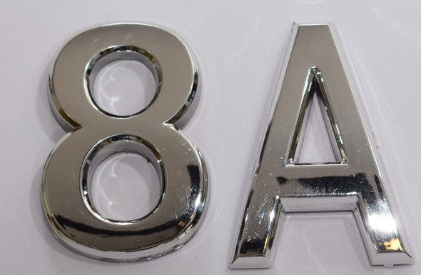 Apartment Number 8A Sign/Mailbox Number Sign, Door Number Sign. Letter C (Silver,3D, Size 2.75 x 1.75, Comes with Double Sided Tape)- The Maple line