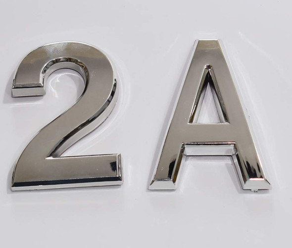 Apartment Number 2A Sign/Mailbox Number Sign, Door Number Sign. Letter C (Silver,3D, Size 2.75 x 1.75, Comes with Double Sided Tape)- The Maple line
