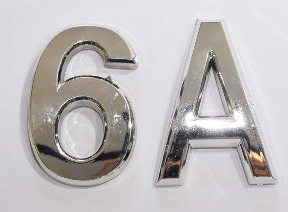 Apartment Number 6A Sign/Mailbox Number Sign, Door Number Sign. Letter C (Silver,3D, Size 2.75 x 1.75, Comes with Double Sided Tape)- The Maple line