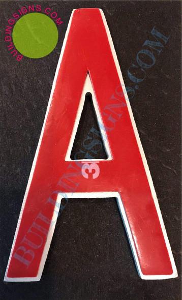 Aluminum Letter A Sign (Brush Silver,Double Sided Tape, Rust Free, 2.75 inch)-ÉLÉGANTE NUMÉRO DE Porte BROSSE Artiste