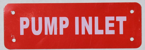 Pump Inlet Valve Signage