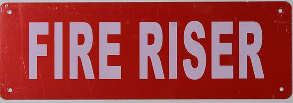FIRE Riser Sign
