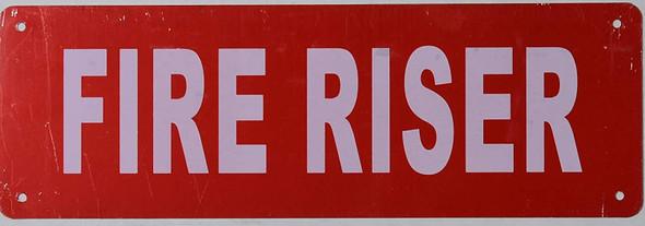 FIRE Riser Signage