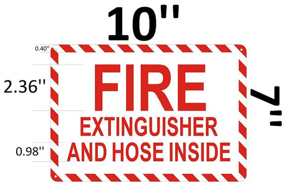 FIRE Extinguisher and Hose Inside Signage