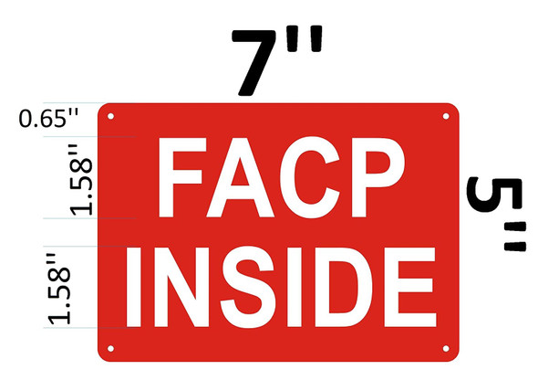 FACP Inside Signage