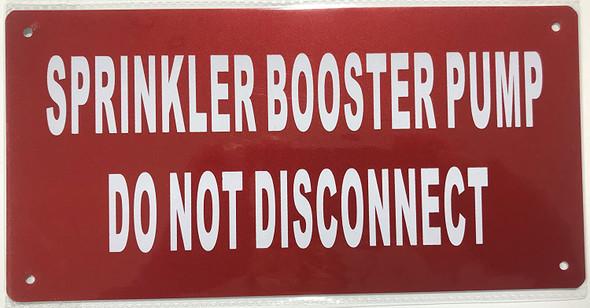 Sprinkler Booster Pump Signage