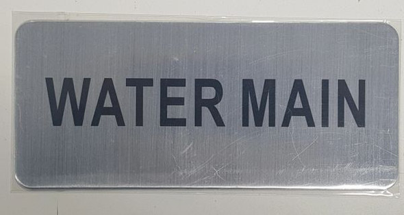 WATER MAIN SIGN - BRUSHED ALUMINUM - The Mont Argent Line