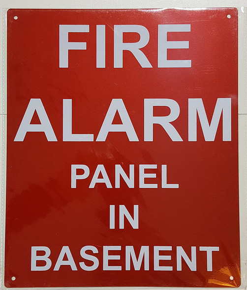 FIRE Alarm Panel in Basement Signage