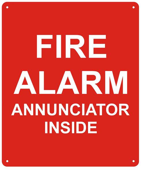 FIRE Alarm Annunciator Inside Sign