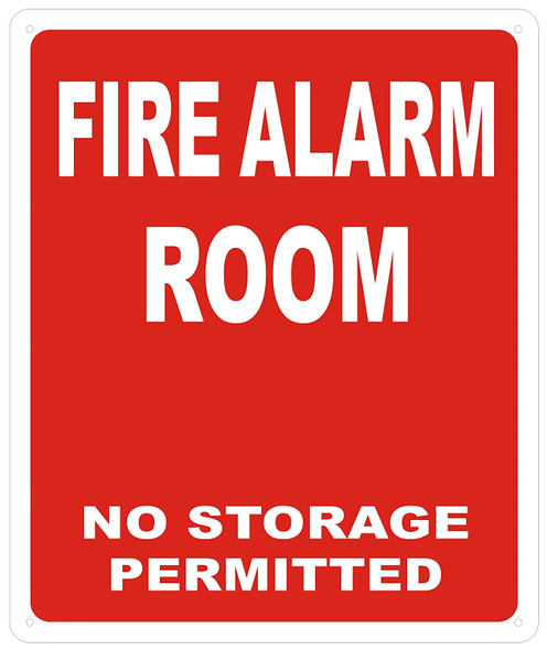 FIRE ALARM ROOM SIGN - RED ( Reflective !!! ALUMINUM)