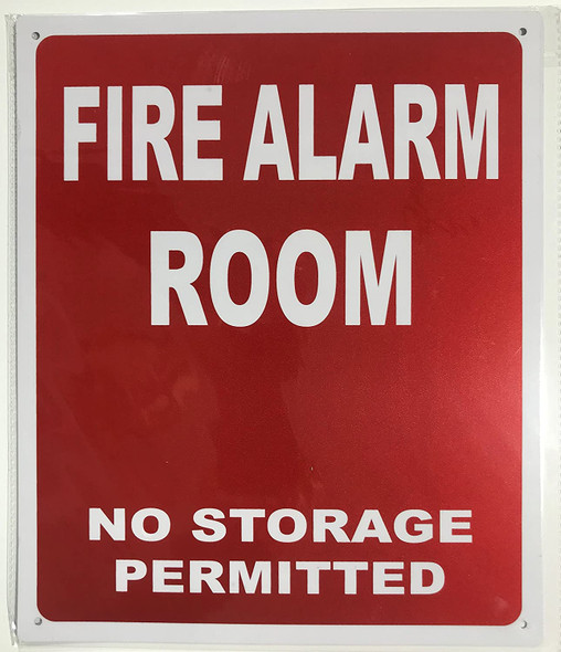 FIRE ALARM ROOM SIGNAGE - RED ( Reflective !!! ALUMINUM)