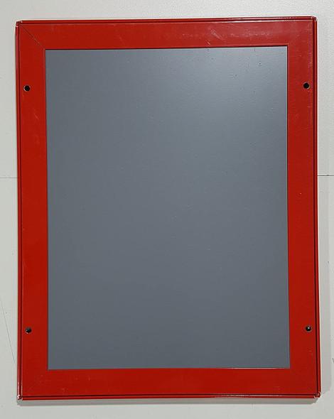 FIRE SAFETY PLAN FRAME - RED (STANDARD - ALUMINUM 8.5x11 )