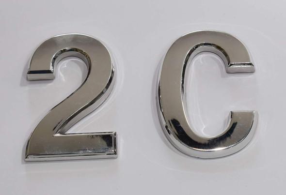 Apartment Number Sign 2C