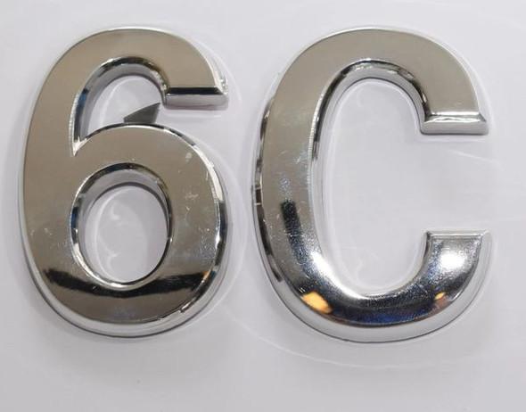 Apartment Number Sign 6C