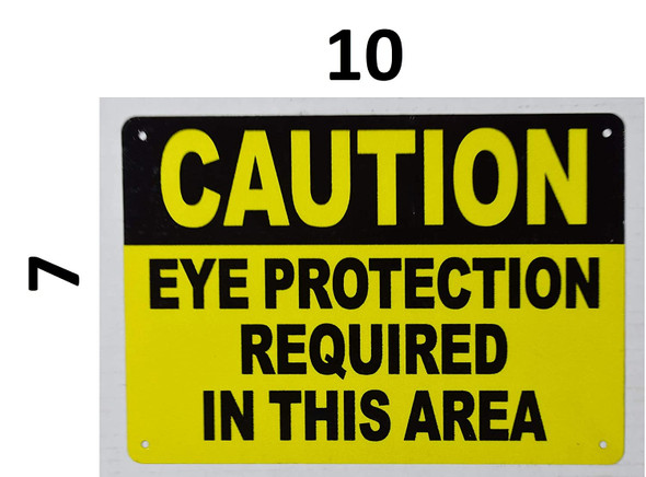 Caution Eye Protection Requi in This Area Signage