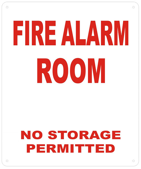 FIRE Alarm Room Sign (White,Reflective !!! Aluminum )