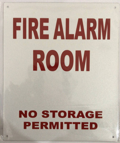 FIRE Alarm Room SIGNAGE (White,Reflective !!! Aluminum )