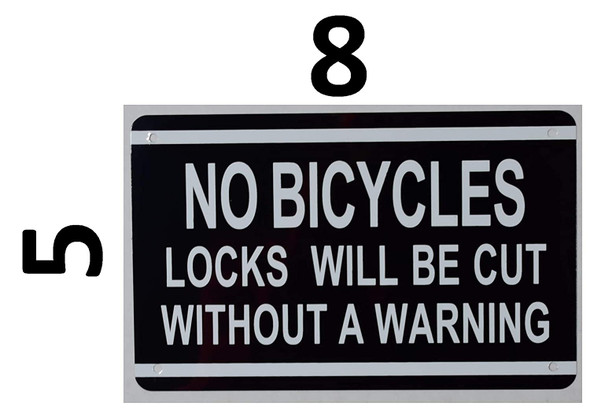 NO Bicycles Locks Will BE Cut Without A Warning Sign (