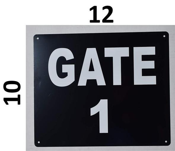 gate number 1 sign