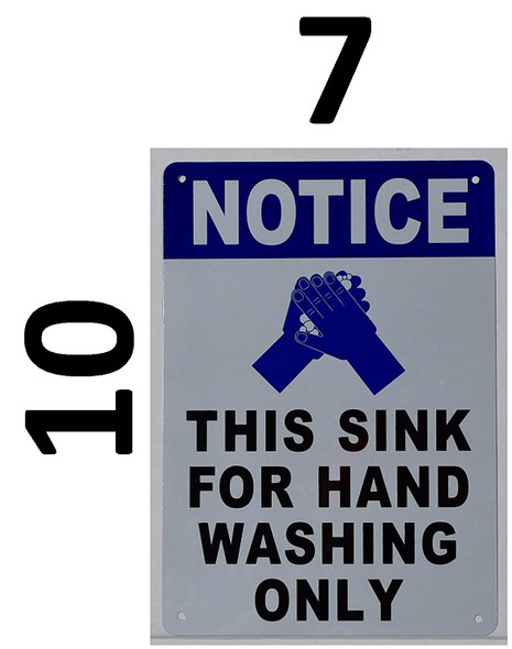 This Sink for Hand Washing ONLY Signage with English Text and Symbol Signage