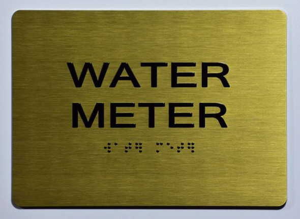 WATER METER Sign -Tactile Signs Tactile Signs   Ada sign