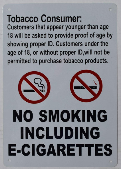 Tobacco Consumer Notice Sign - for Retail