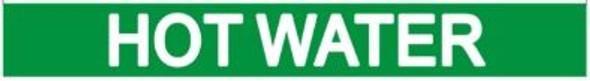 HOT WATER SIGN (STICKER ) GREEN