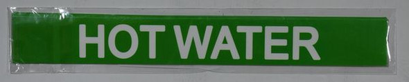 HOT WATER SIGNAGE (STICKER ) GREEN