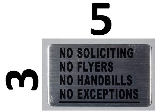 TWO PCS (2) NO SOLICITING NO FLYERS NO HANDBILLS SIGN.