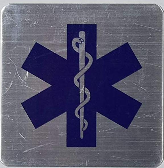 TWO (2) PCS Caduceus Snake Staff Medical Symbol SIGN.