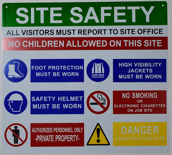 PPE sign - Site safety rule sign