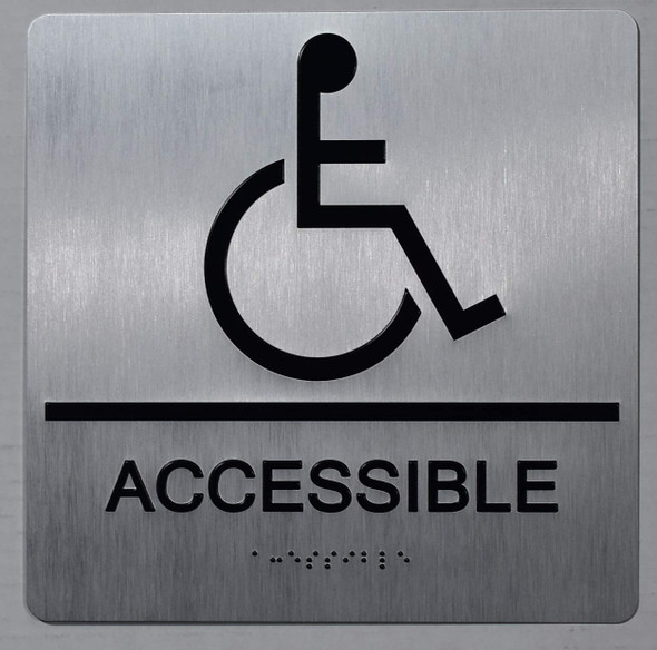 ACCESSIBLE Sign -Tactile Signs-The Sensation line  Braille sign