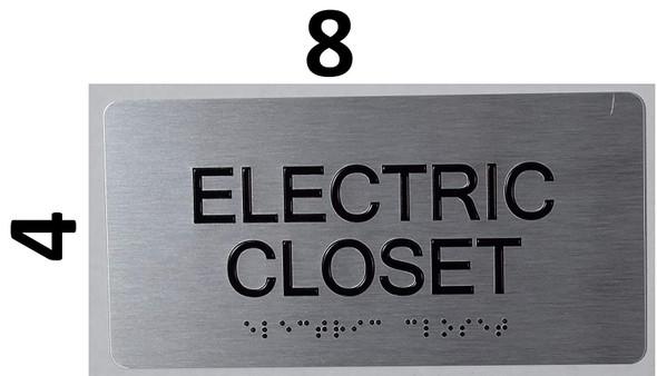 ELECTRIC CLOSET SIGN ada silver