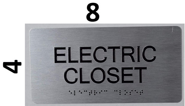 Electric Closet -Tactile Touch   Braille sign - The Sensation line -Tactile Signs  Braille sign