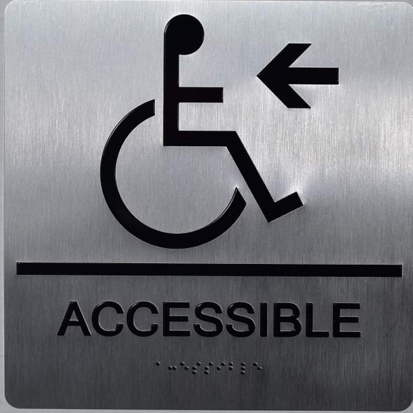ada ACCESSIBLE LEFT ARROW SIGN