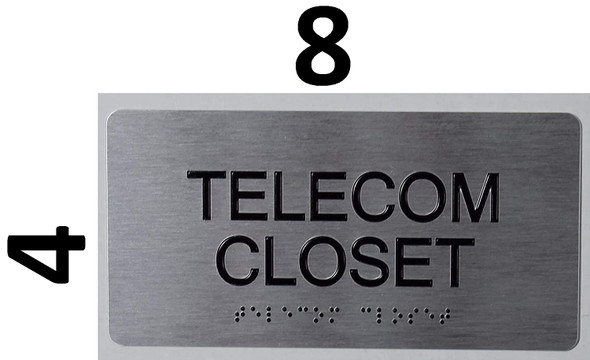 Telecom Closet Sign  -Tactile Touch   Braille sign - The Sensation line -Tactile Signs  Braille sign