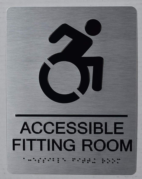 ACCESSIBLE Fitting Room Sign -Tactile Signs -The Sensation line Ada sign