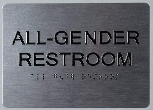 All Gender Restroom Sign -Tactile Signs The Sensation line Ada sign