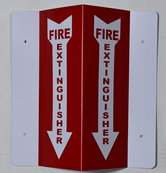 Fire Extinguisher 2D projection signs / 2d hallway sign is printed on both sides for easy viewing.