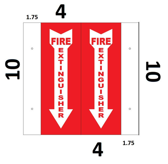 Fire ExtinguisherD Projection Signage