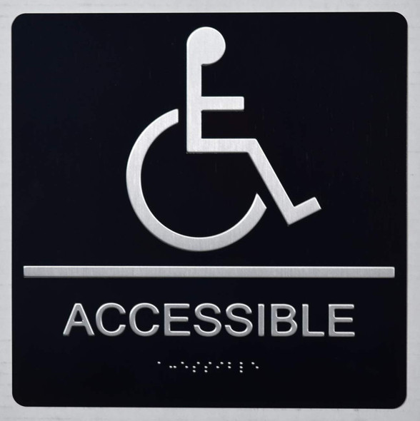 ACCESSIBLE Sign -Tactile Signs Tactile Signs  The Sensation line  Braille sign