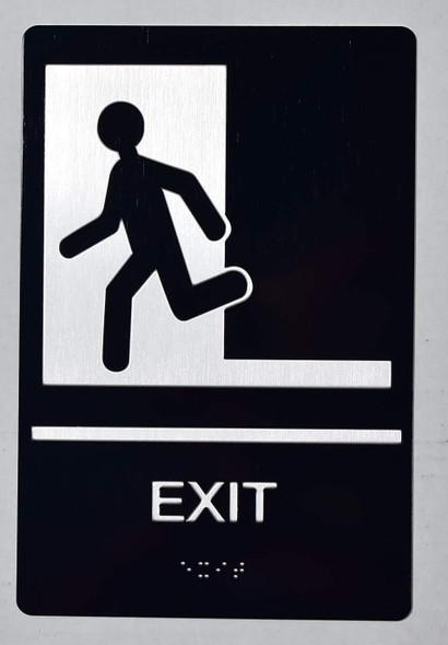 EXIT Sign -Tactile Signs-The Sensation line Ada sign