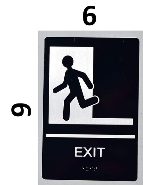 EXIT door SIGN ada-