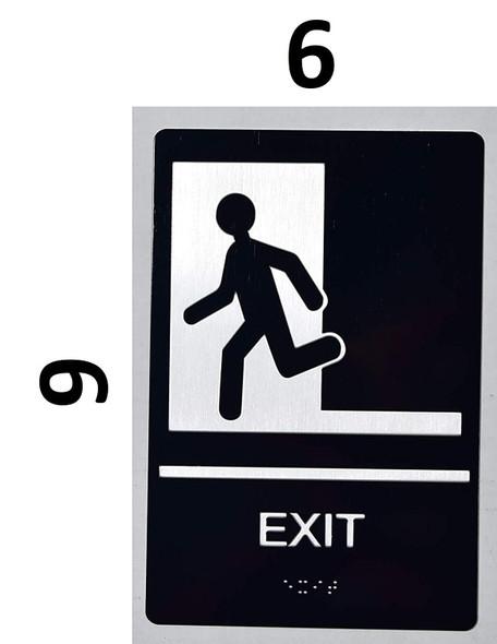 EXIT Sign -Tactile Signs-The Sensation line  Braille sign