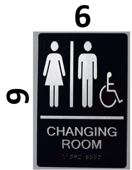 Changing Room ACCESSIBLE Sign -Tactile Signs Tactile Signs Unisex changing room accessible sign The Sensation line  Braille sign